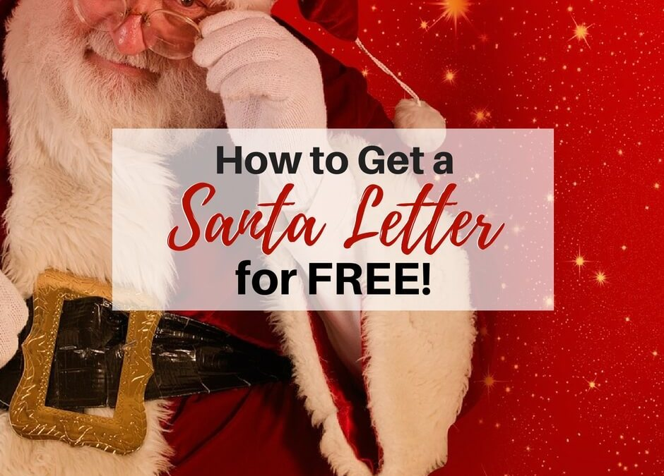 Letter from Santa for Free
