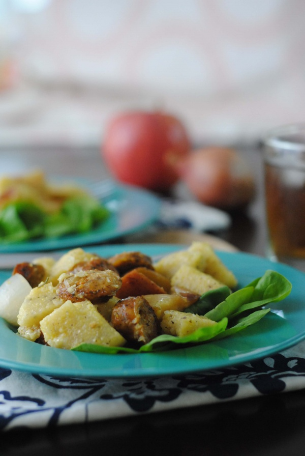 Chicken and Apple Baked Polenta recipe