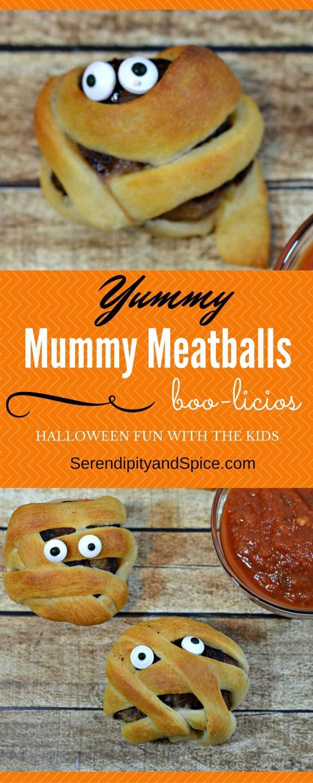 Yummy Mummy Meatballs A Halloween Treat for Kids