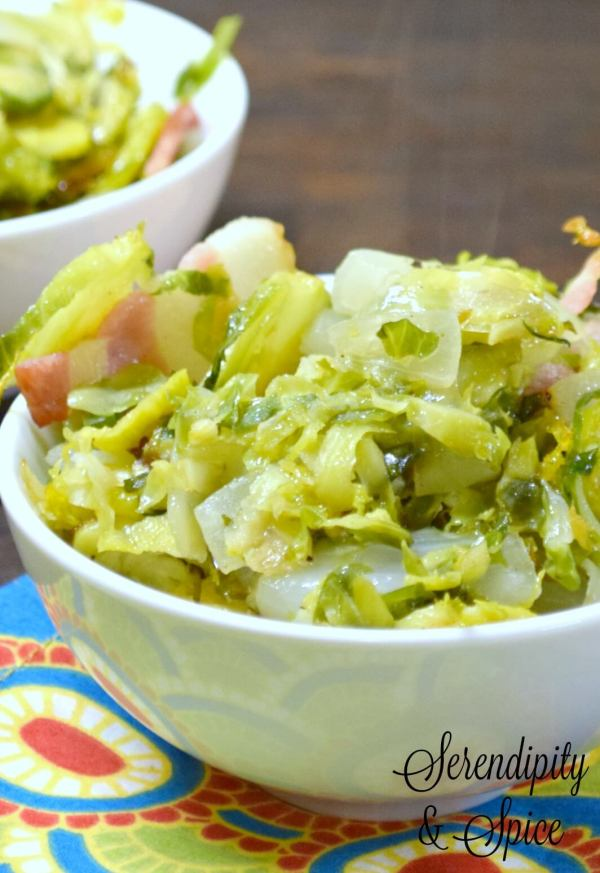 Bacon Roasted Onion Brussel Sprouts Recipe