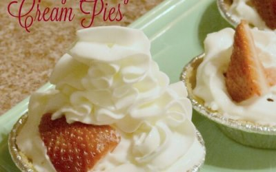No Bake Very Berry Cream Pies #EffortlessPies #ad