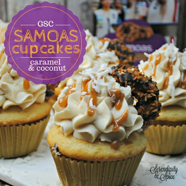 Girl Scout Samoas Cupcake Recipe