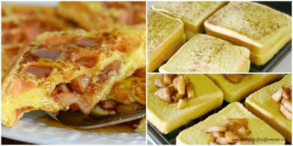 Apple Stuffed French Toast Waffles