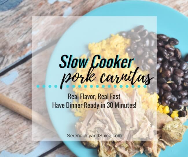 Slow Cooker Pork Carnitas #RealFlavorRealFast AD #IC