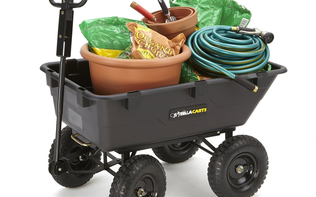Gorilla Cart Heavy-Duty Garden Poly Dump Cart