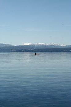 A lone kayaker.