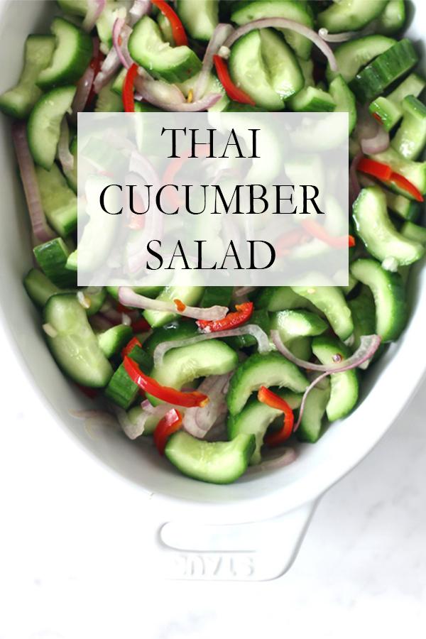 Crunchy & Sweet Thai Cucumber Salad | Serendipity by Sara Lynn