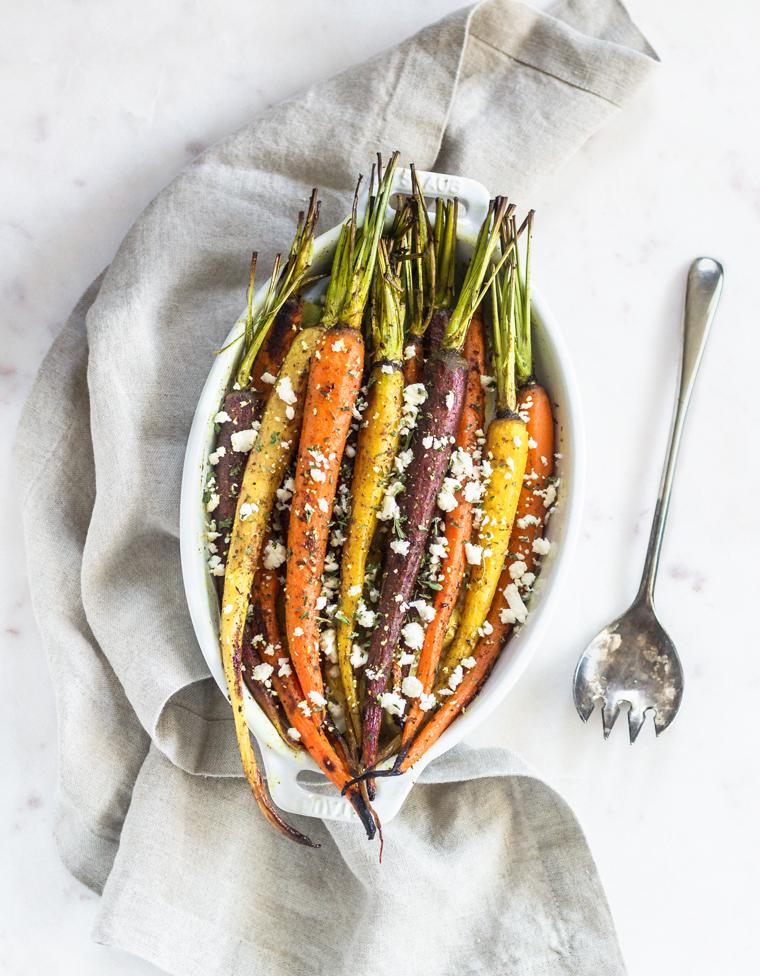 Turmeric & Za'atar Roasted Carrots | Serendipity by Sara Lynn