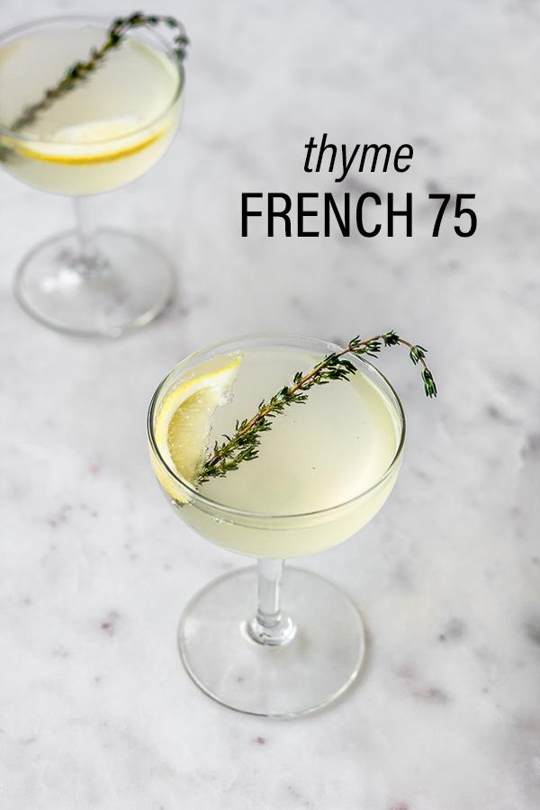 Thyme French 75 | Serendipity by Sara Lynn
