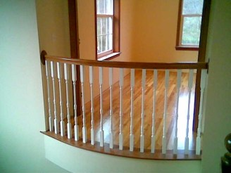 A curved balustrade