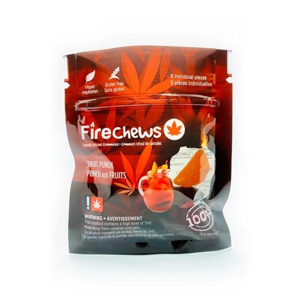 Fire Chews - Fruit Punch (100 MG THC) edibles Serene Farms Online Dispensary