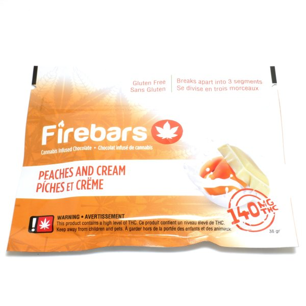 Fire Bars- Peaches And Cream (140 MG THC) edibles Serene Farms Online Dispensary