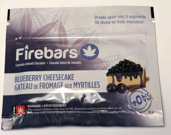 Fire Bars- Blueberry Cheesecake (140 MG THC) edibles Serene Farms Online Dispensary