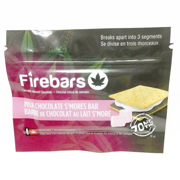 Fire Bars- Milk Chocolate S'mores Bar (140 MG THC) edibles Serene Farms Online Dispensary