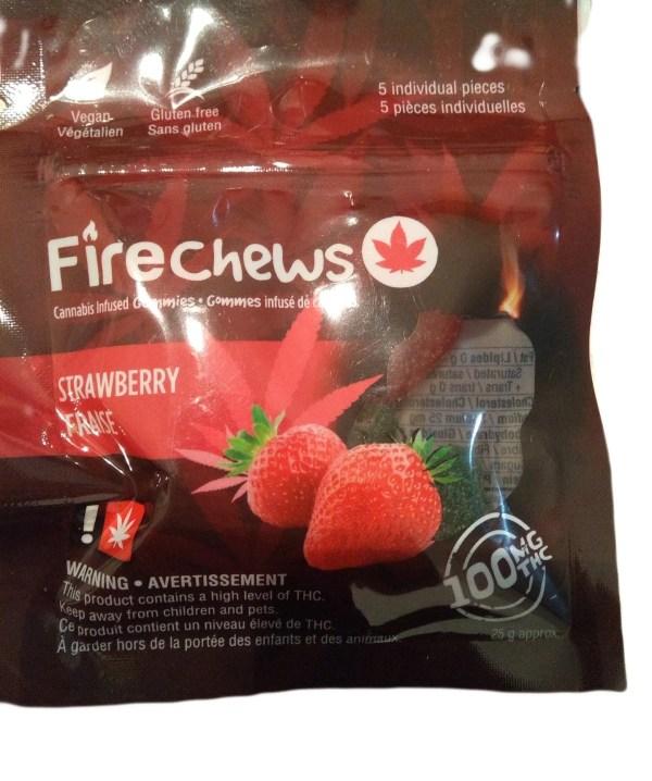 Fire Chews - Strawberry (100 MG THC) edibles Serene Farms Online Dispensary