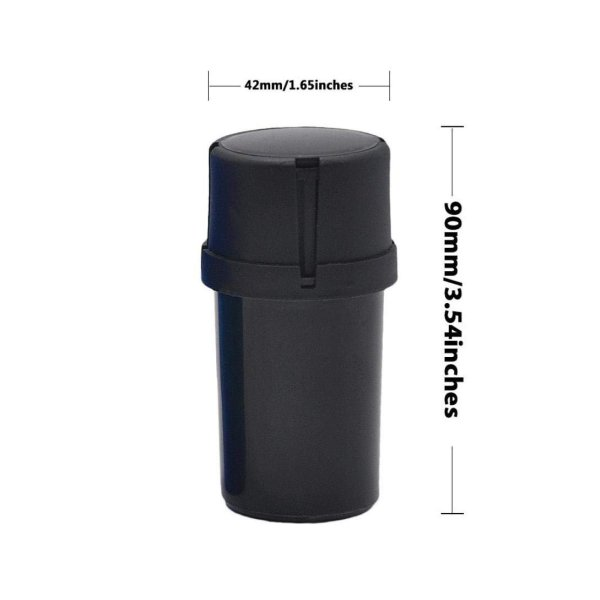 Small 3-Piece Plastic Grinder accessories Serene Farms Online Dispensary