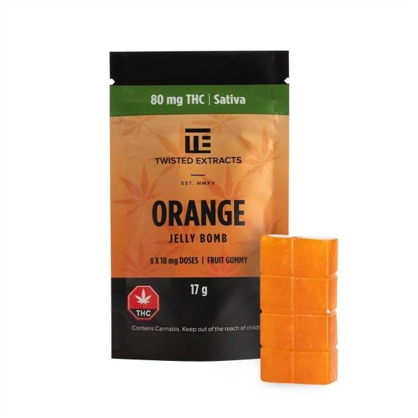 Orange Jelly Bomb (80mg THC) Serene Farms Online Dispensary