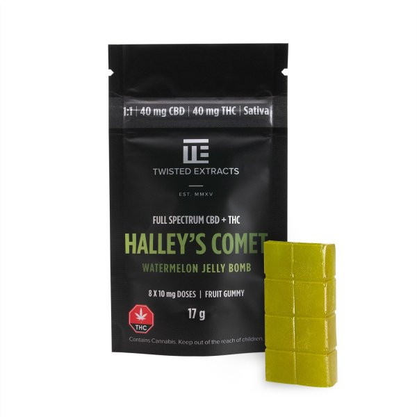 Watermelon Halley's Comet 1:1 Jelly Bomb Serene Farms Online Dispensary