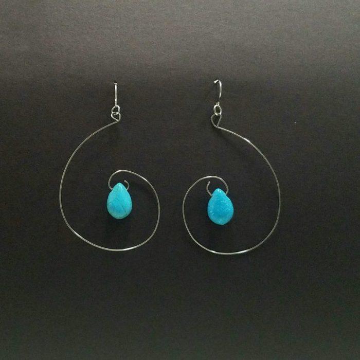 Turquoise Curl Earrings
