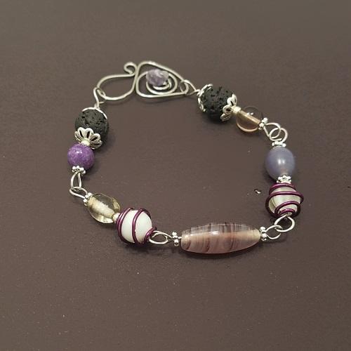 third eye chakra lava bead bracelet