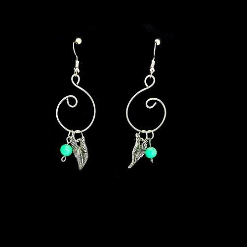 boho leaf curl earrings