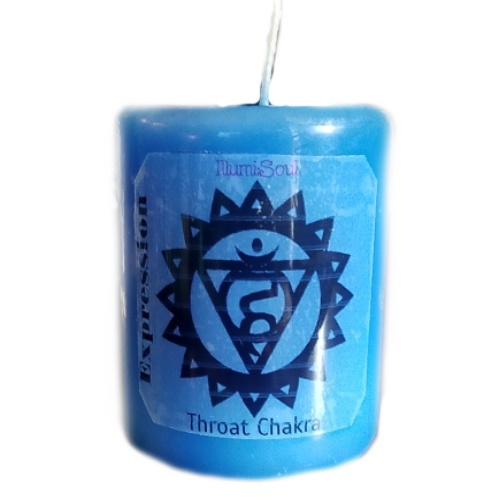 throat chakra candles large