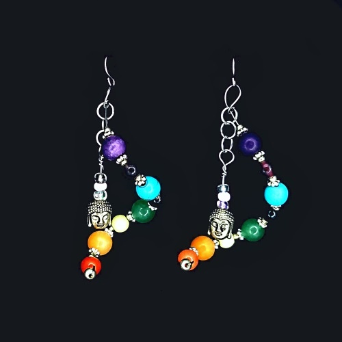 chakra spiral twist earrings