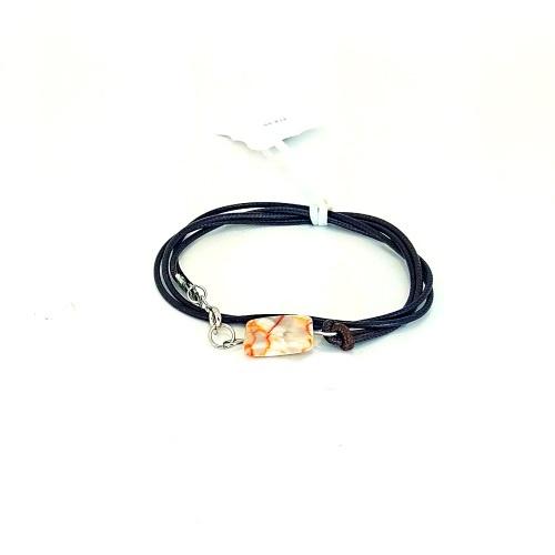 brown leather wrap bracelet
