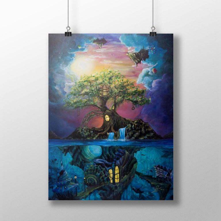 Hideaway for the Imaginative   Serene Illustrations