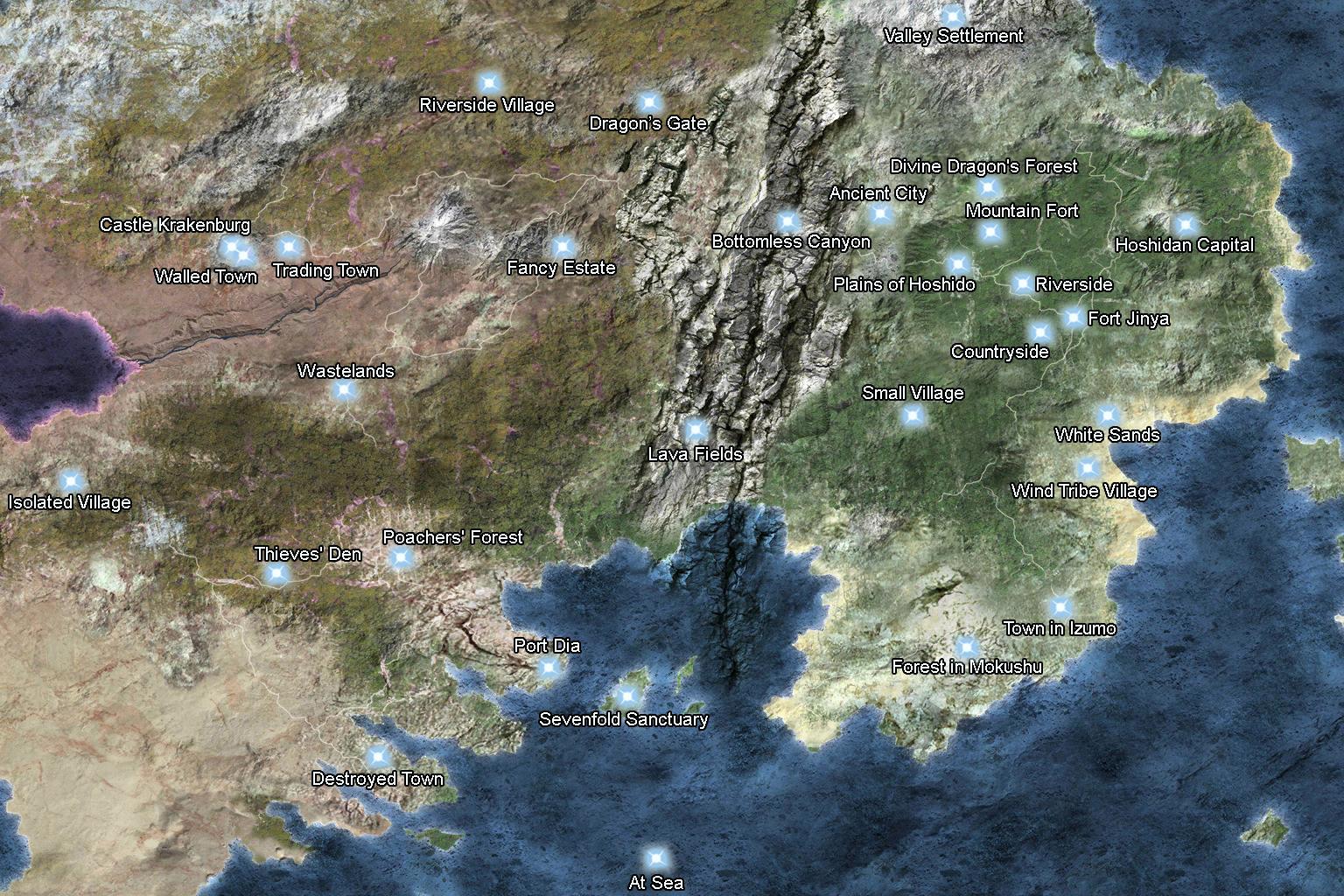 revelation map serenes forest
