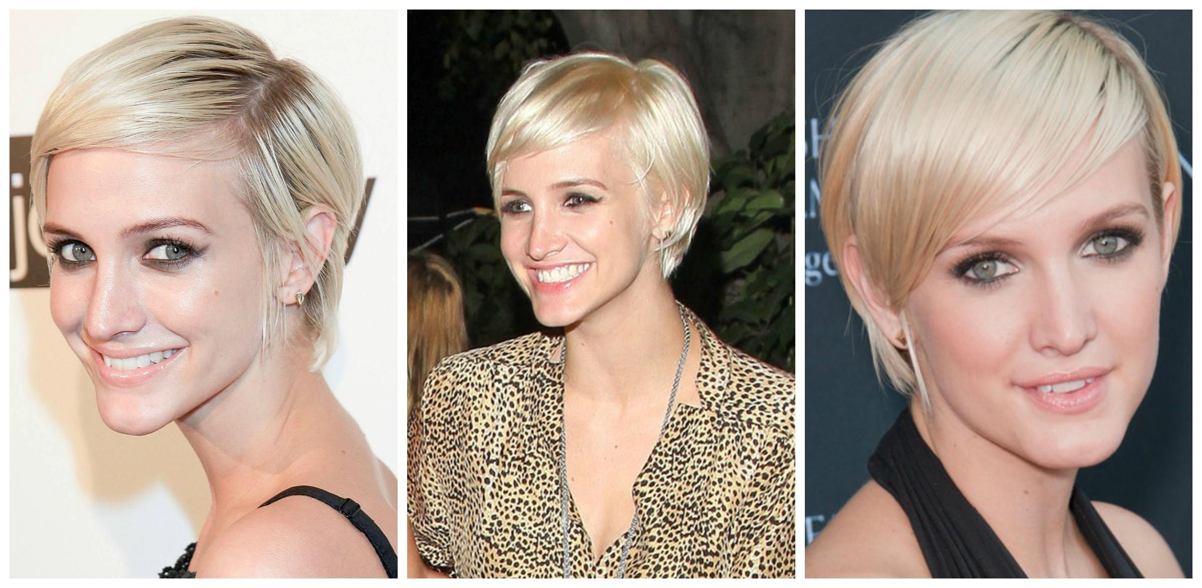 short hairstyles tucked behind ears