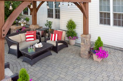 company to install pavers for my backyard