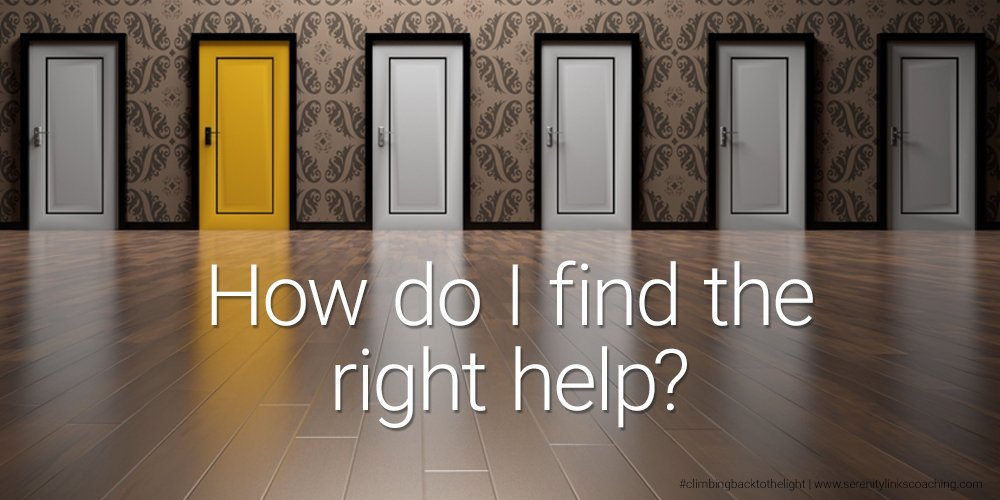 find the right help Serenity Links Coaching Diana Whiteheart