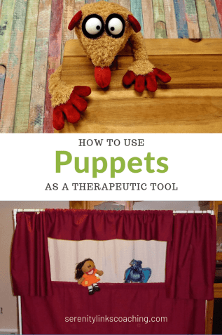Puppets are a great therapeutic tool!  Kids who struggle to express their feelings with words are often more successful making a puppet talk than making themselves talk.  Check out how we use them, how we made their amazing puppet theater, and some crazy ideas for keeping it funny.
