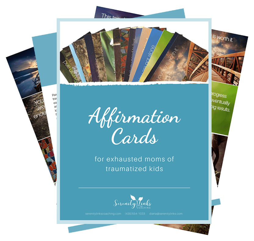 Affirmation cards for moms of children affected by reactive attachment disorder, developmental trauma, fetal alcohol syndrome, or mental illness