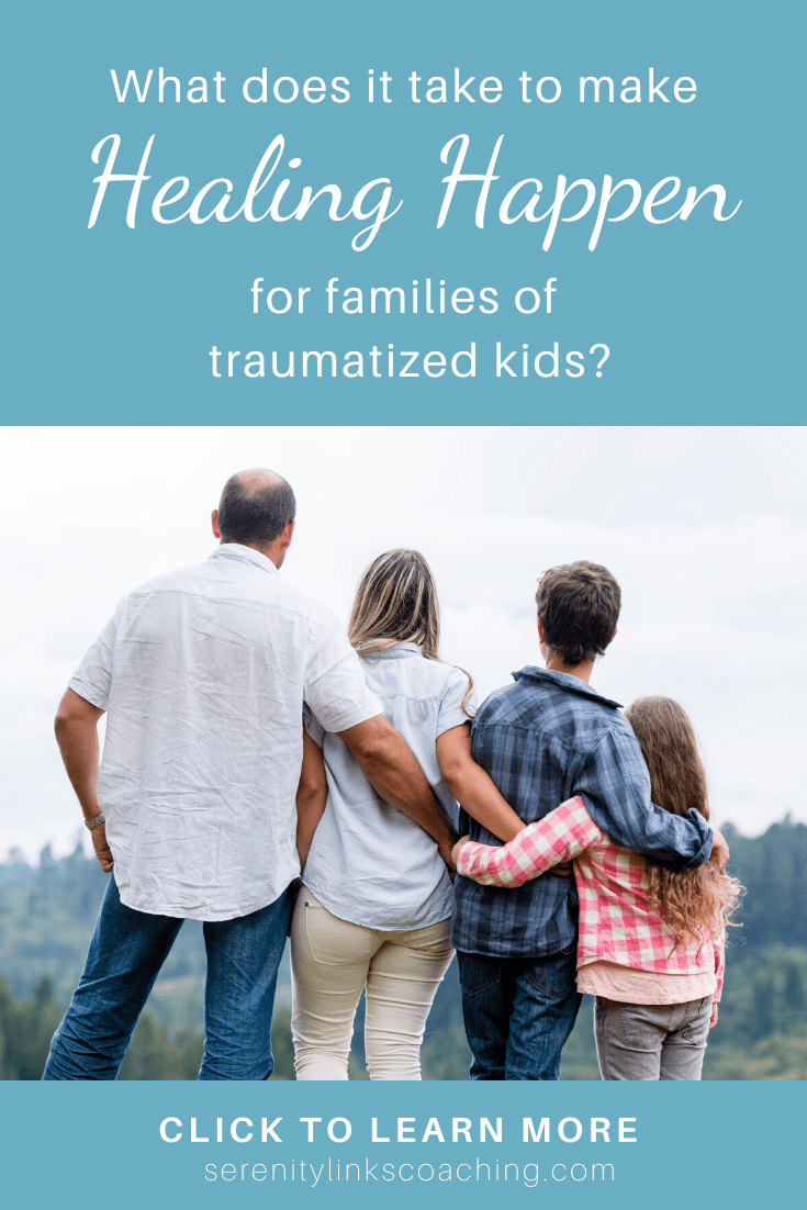 Given the right steps and processes, lasting peace and healing can and do happen for families of kids affected by developmental trauma, Reactive Attachment Disorder, and even fetal alcohol exposure (FASD). My family is living proof of it! It takes more than therapeutic parenting, though. Click the image and find out what the right steps are and how you can make them work for you! #serenitylinkscoaching #developmentaltrauma #healingtrauma #reactiveattachmentdisorder #fasd #parentcoaching
