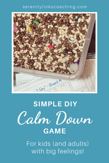 Simple DIY Bean Bucket Calm Down Game