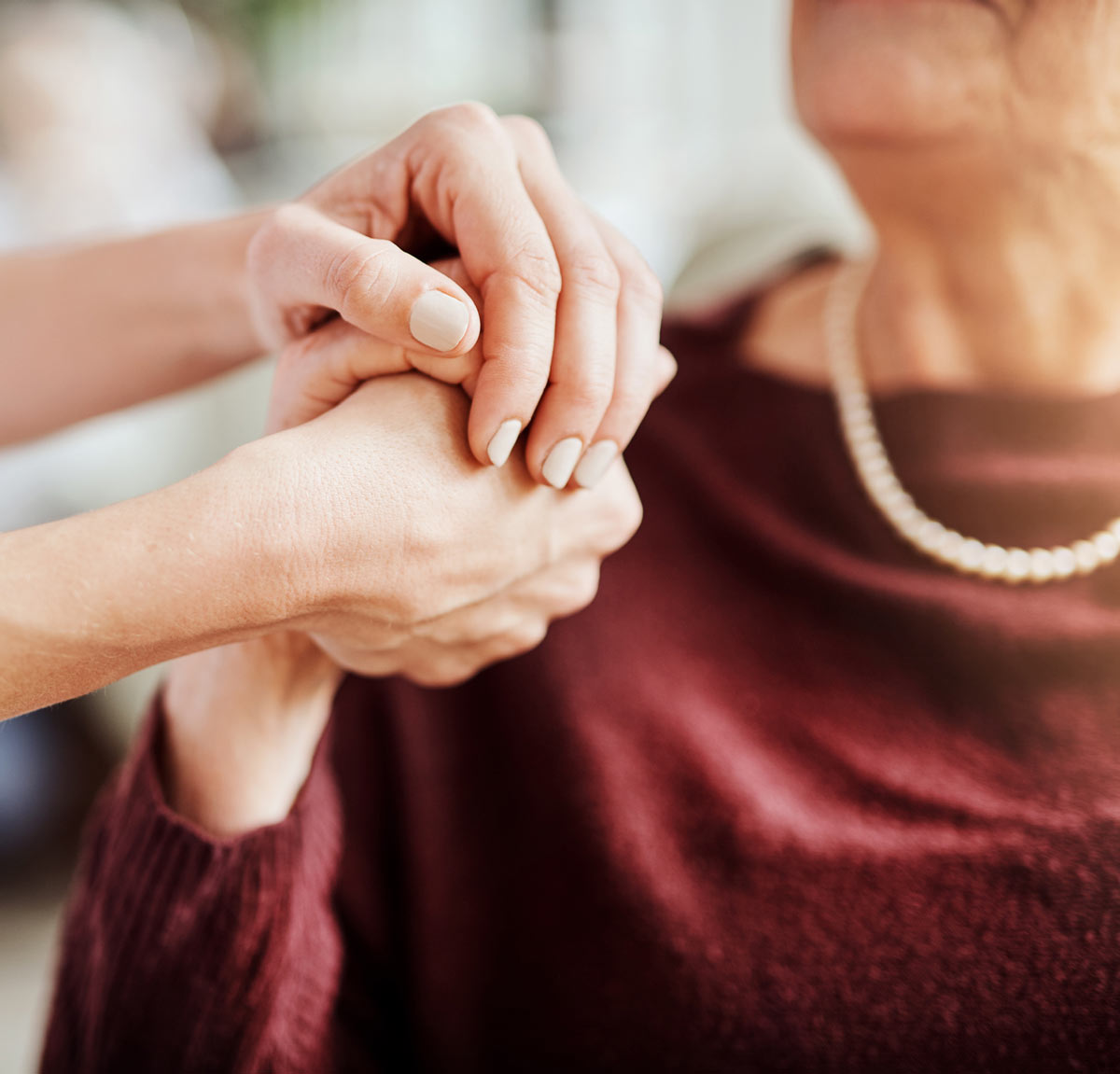 Holding Hands | Serenity Oaks Assisted Living & Memory Care, Respite Care in Live Oaks, San Antonio, Texas