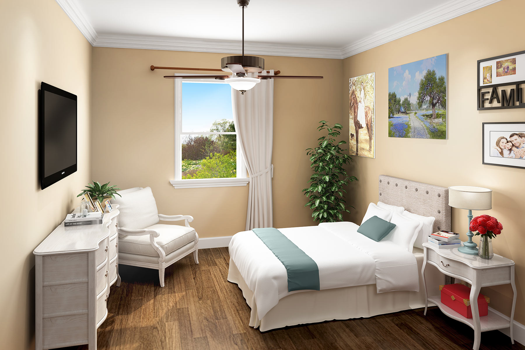 Serenity Oaks Bedroom | Serenity Oaks Assisted Living & Memory Care, Respite Care in Live Oaks, San Antonio, Texas
