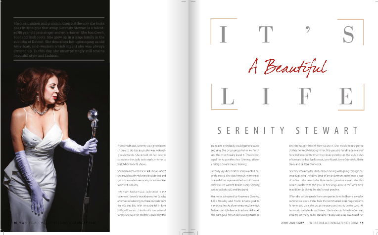 Serenity Stewart Profiled in World Class Magazine