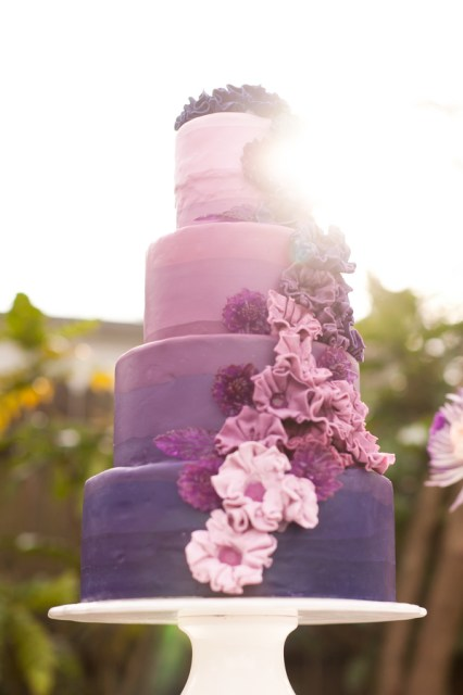 DIY ombre wedding ideas