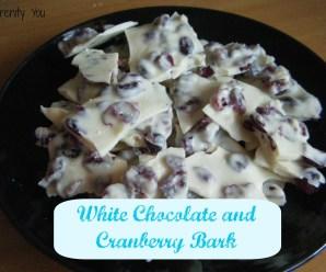 White Chocolate and Cranberry Bark