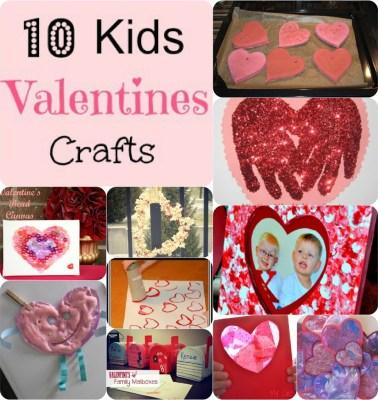 10 Kids Valentine Crafts