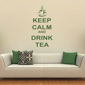 Keep Calm And Drink Tea Wall Art Quote Decals
