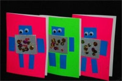 robot cards #kidscraft