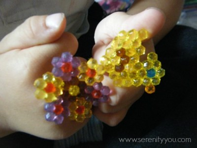 flower and duck aquabeads