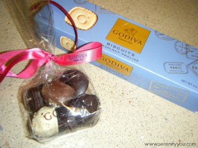 Godiva Chocolates samples