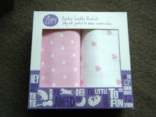 Bamboo swaddle blankets from Zippy Siut