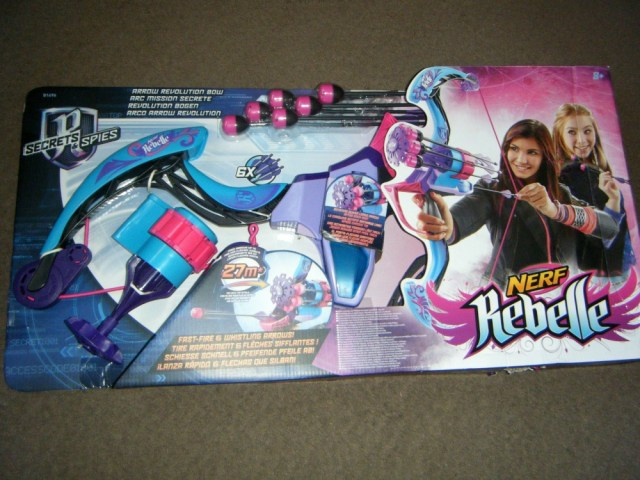 nerf rebelle Secret and Spies Arrow Revolution Bow