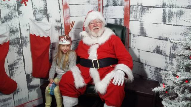 Visiting Santa's Grotto at Derby Intu Centre